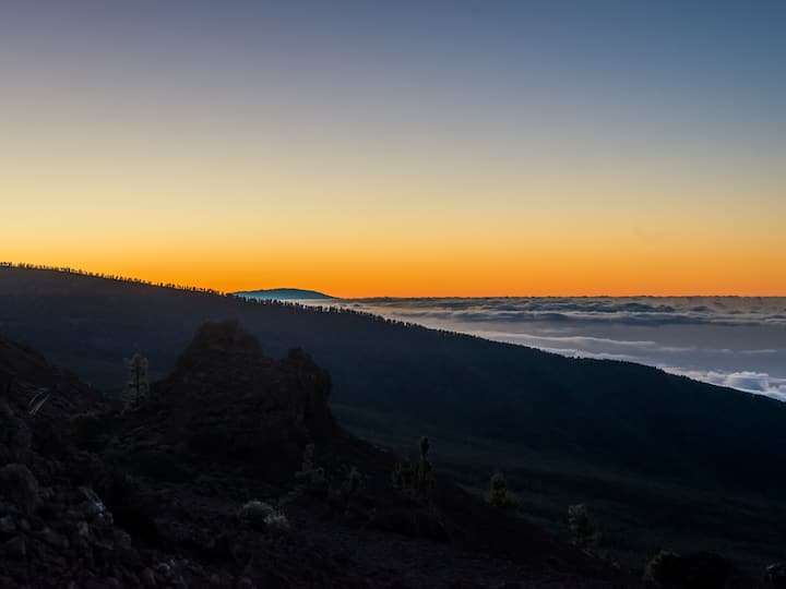 Sunset behind La Palma