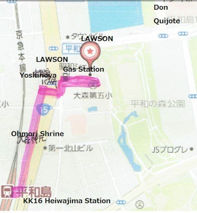 route guidance from the station