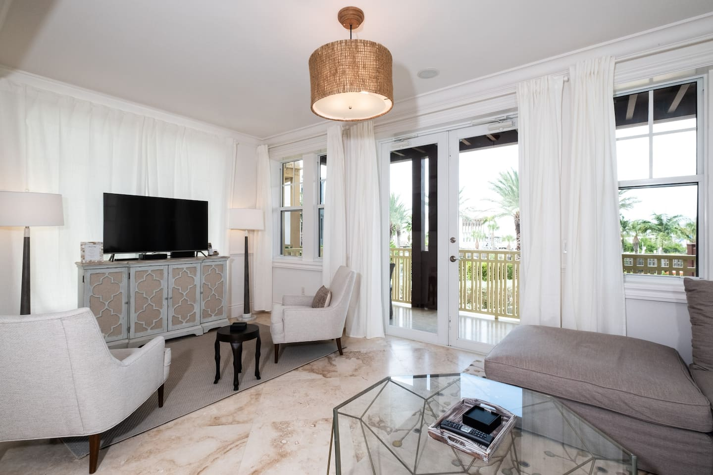 Living Room with Entertainment Area & Private Terrace