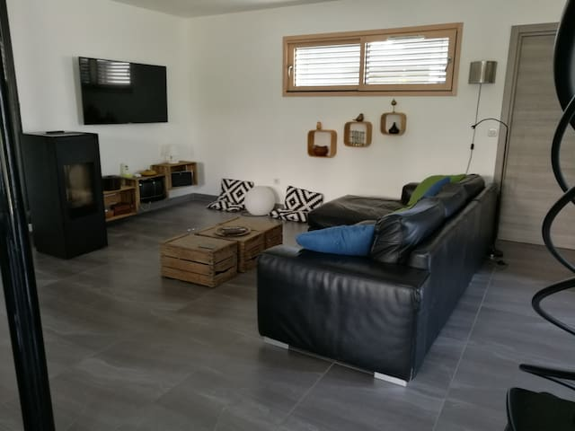 Séjour 60m²-Espace salon TV