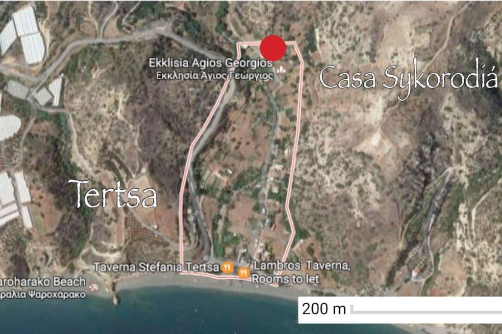 Lage in Tertsa / Location in Tertsa