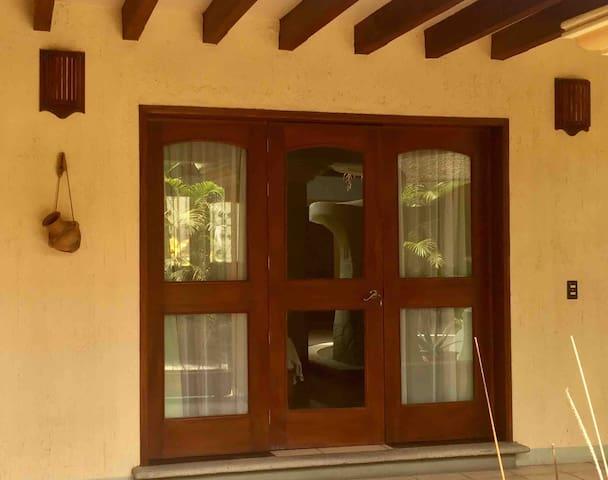 Master Bedroom in Vibrant Colonial House Jalatlaco