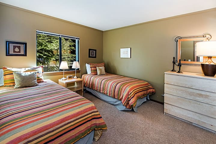 Twin beds and large closet in 3rd bedroom