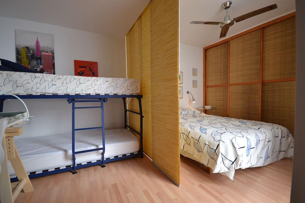 Vista completa dormitorio