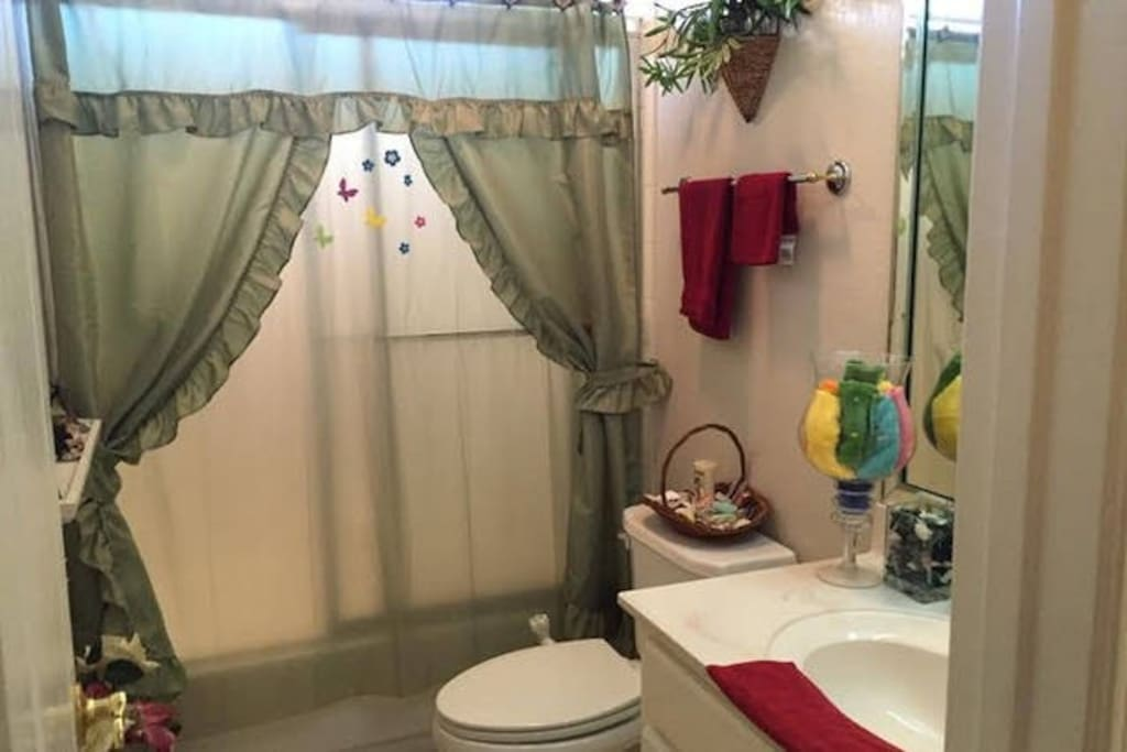Full bathroom right next to your room