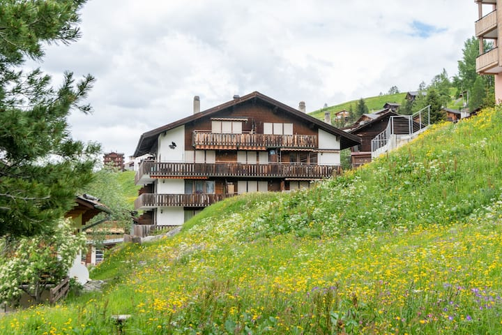 Snug Holiday Home in Grächen with Balcony, Parking and Lift