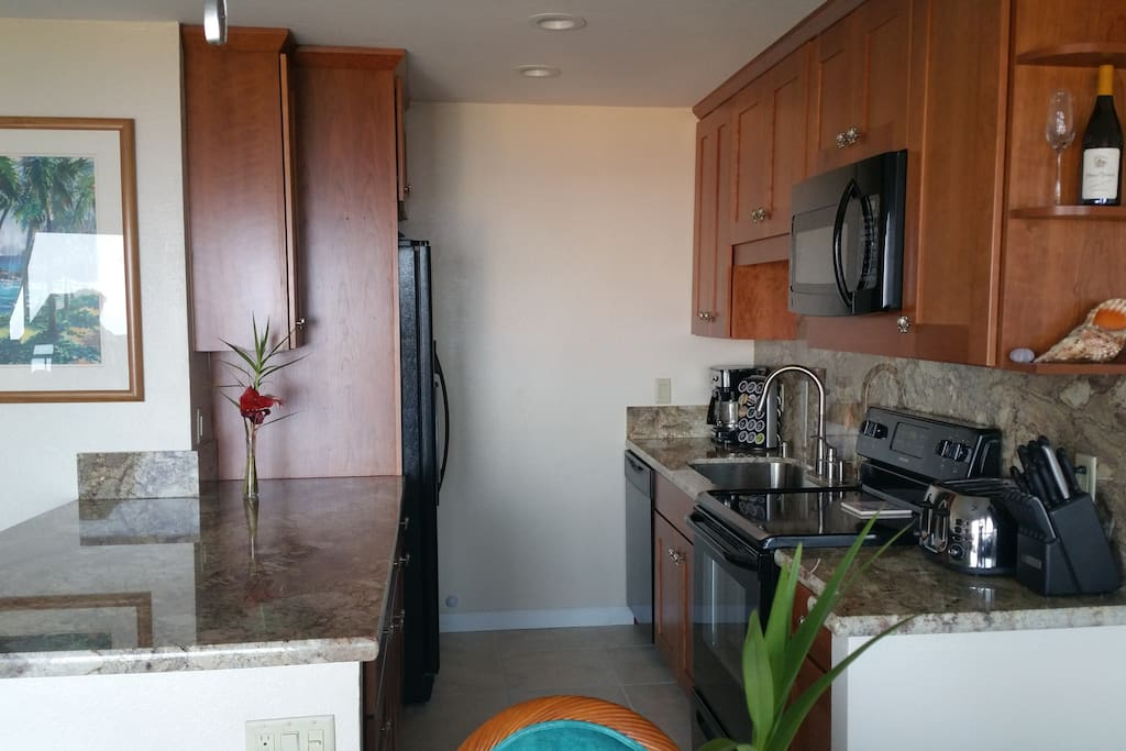 Kitchen - stove, microwave, full size refrigerator, dishwasher