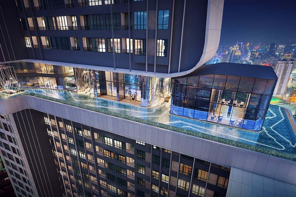ROOF TOP 360 DEGREE INFINITY VIEW SWIMMING POOL