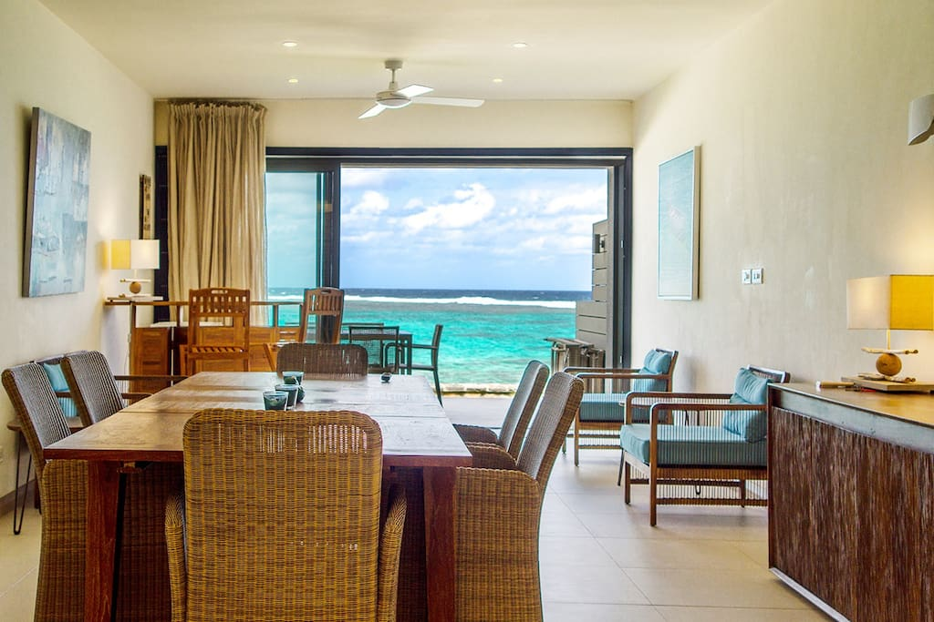 Enjoy Luxury Beachfront Apartment with incredible  view  of the Indian Ocean