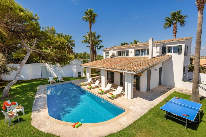 Modern villa with great views in Es Castell