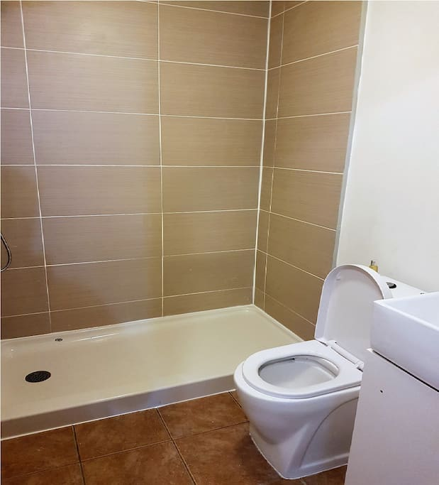 2nd bathroom with 6ft shower, sliding doors to come