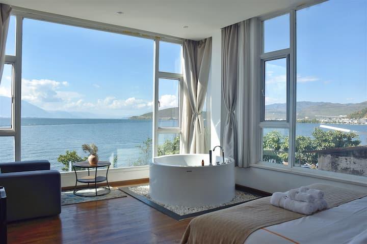 270度海之恋海景大床-2号院-免费下午茶/天空之镜打卡