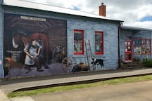 Murals on local shop