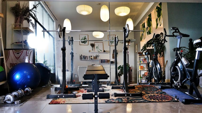 gym in living room