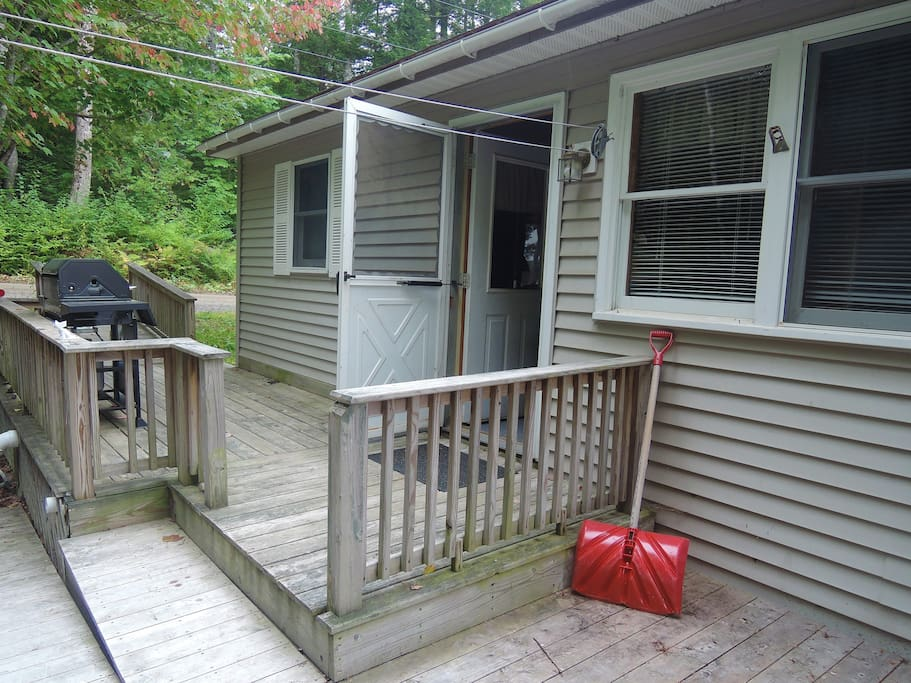 Camp entrance and deck