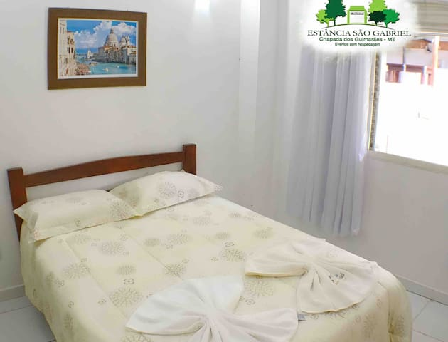 Double room with air conditioning and private bathroom