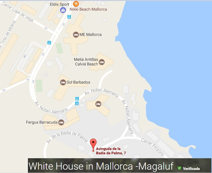 White House in Mallorca Magaluf Chalets for Rent in Badia de
