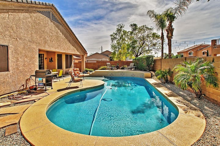 Quiet & Modern 3BR Peoria Ranch-Style House w/Pool