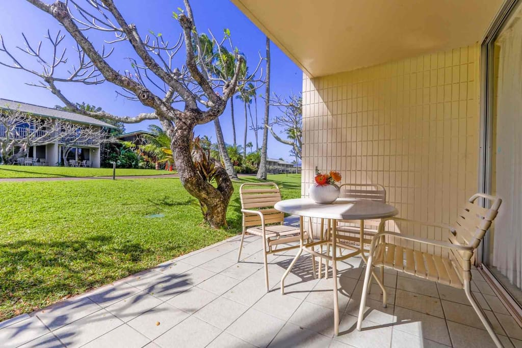 Easy walk down to the beach from your condominium.