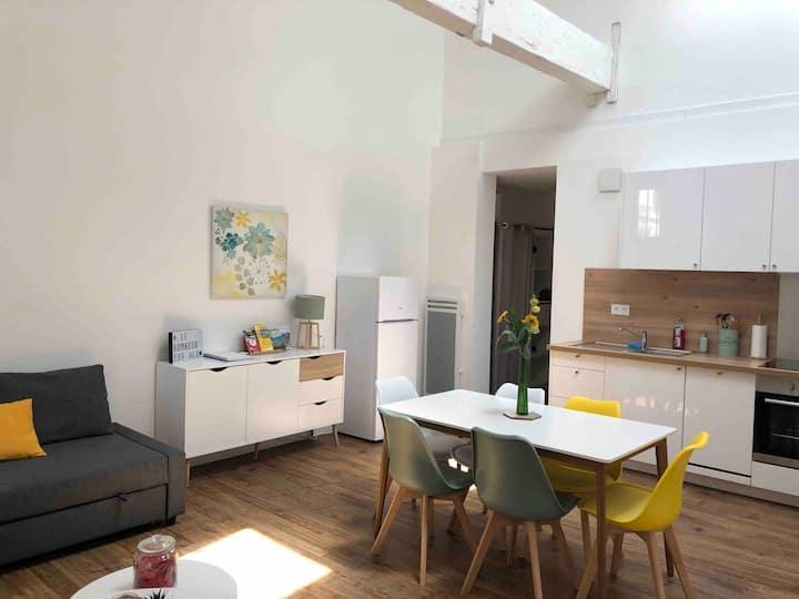 Appartement chaleureux au calme proche de bordeaux