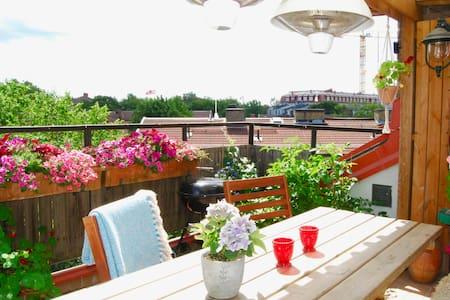 Rooftop apartm, 2-floors, 5 rooms, 10 min fr. city