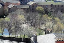 The Water of Leith - 2 minute walk away