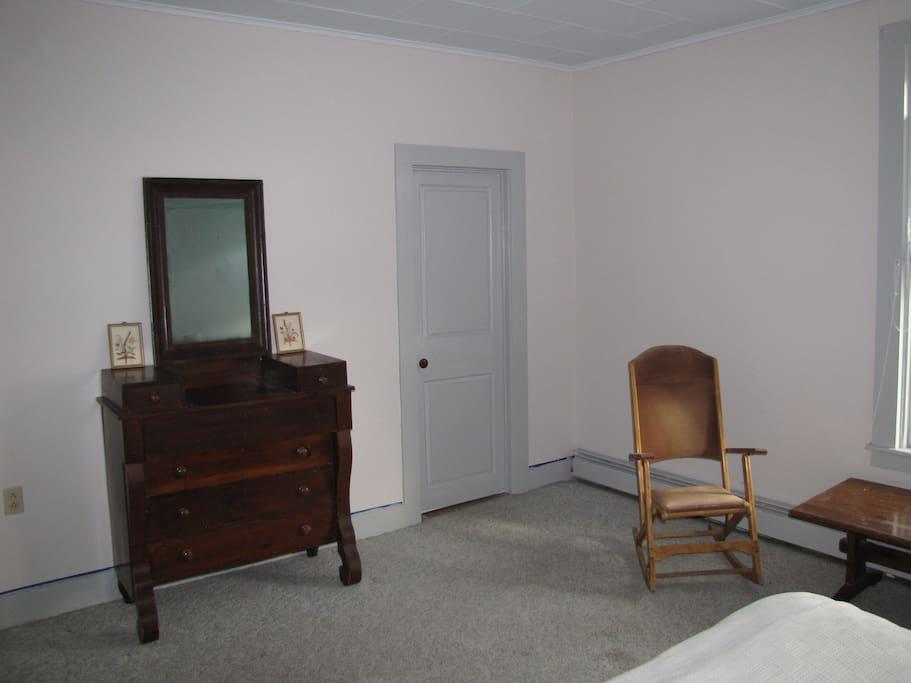 Antique bureau, walkin closet