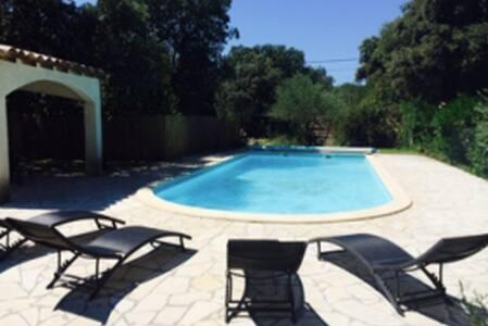 Villa provençale 5 ch Gd jardin Piscine privée - Gard