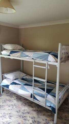 The is also a single bed in this room
