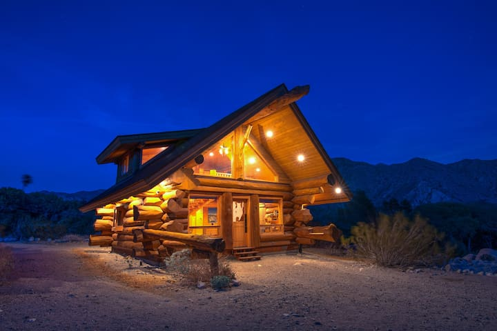 the Log Cabin in the Desert