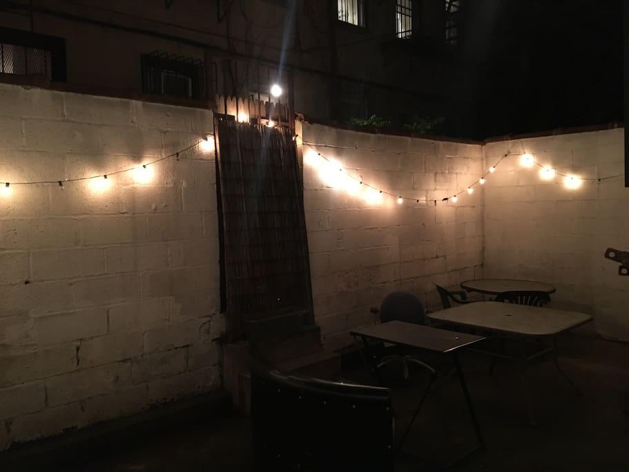 Private backyard area