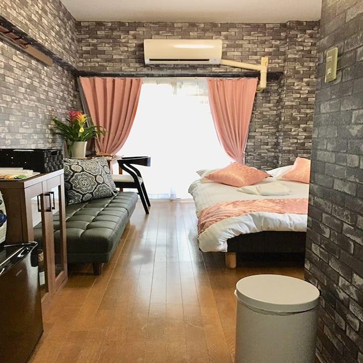 K405 Near Hiroshima central , modern room. Wifi