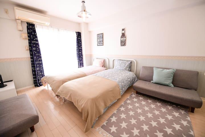 5min Namba/Convenient location and Cozy Clean Room