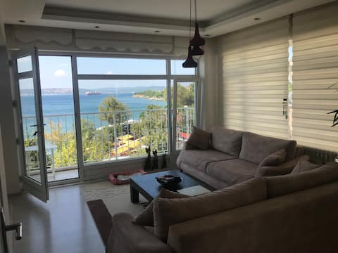 Cozy double room with sea view