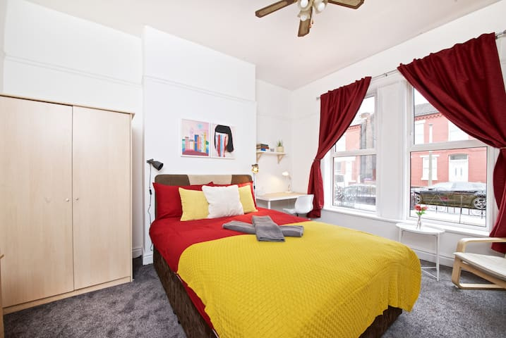 ✭Double bed✭17 min by bus to Liverpool city (G2)