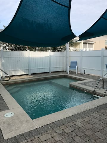 Cook on the grill and relax by the pool!
