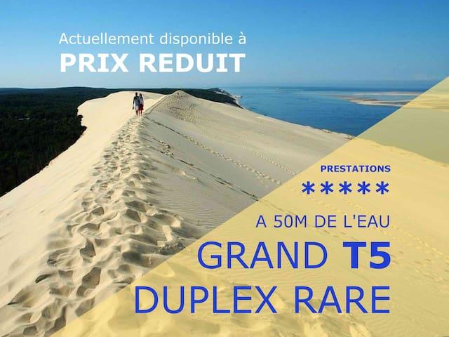 """T5 duplex """"Les Pieds dans l'Eau"""" 4*"""