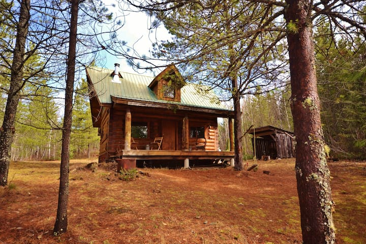 Violet Cabin - Glamping in the Larch Hills - Salmon Arm - Houten huisje