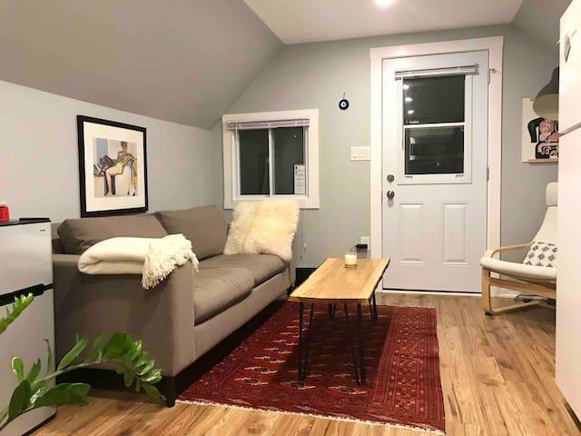 Cozy downtown attic apartment