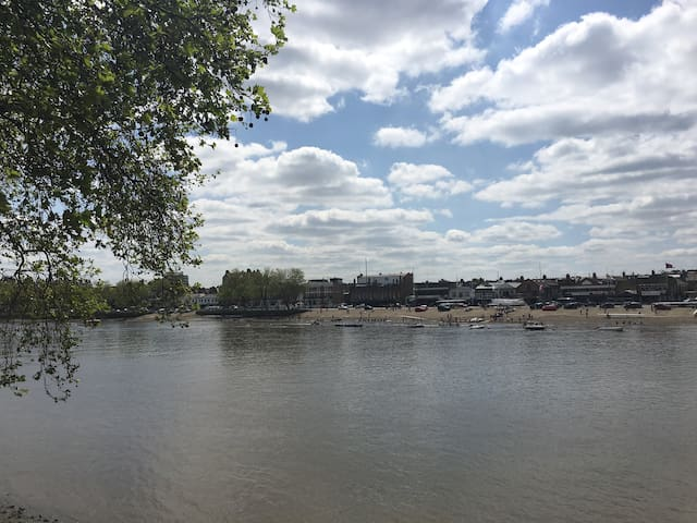 Bright, double room seconds from the River Thames! - London - Apartment