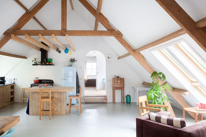 Bed and Kitchen - Farm-loft - Terwolde - Loft