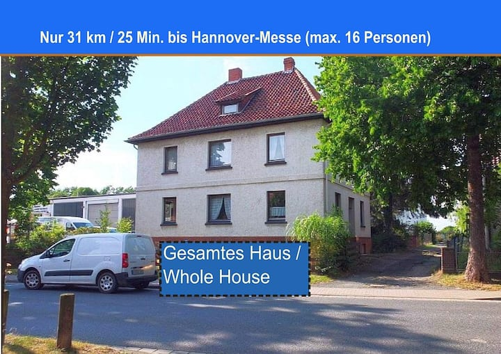 Haus in Kemme - 25 Min bis HannoverMesse (16 Pers)