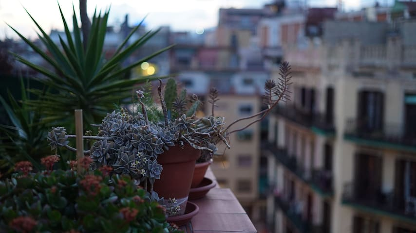 NICE APARTMENT  PRIVATE TERRACE - Barcelona - Daire