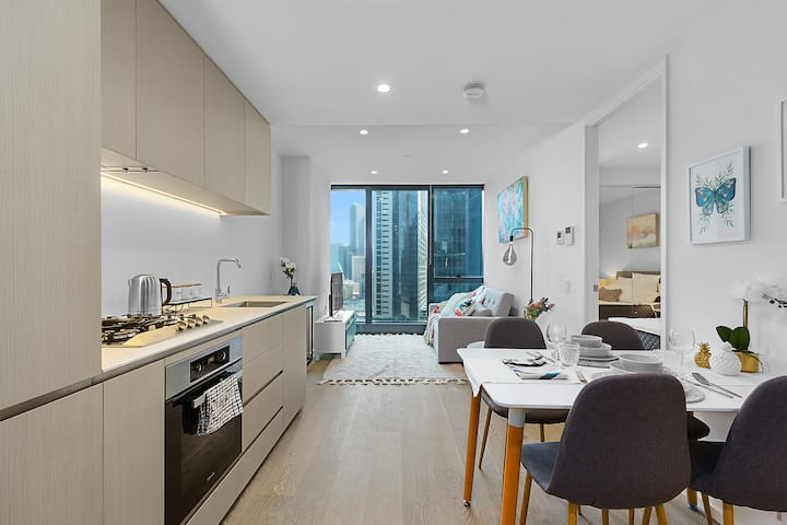 Modern 1 BR Apt on Southbank #Australia108