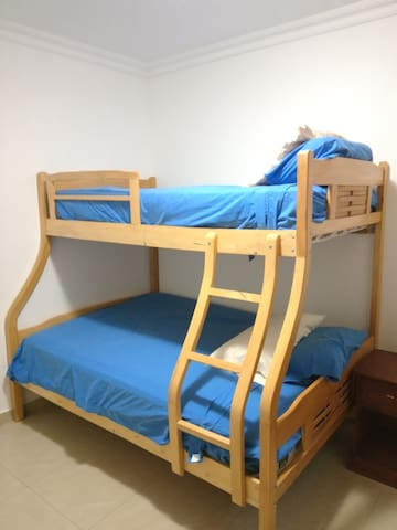 Third Bedroom. Double and Single Bed (2 & 1.5 Plaza)