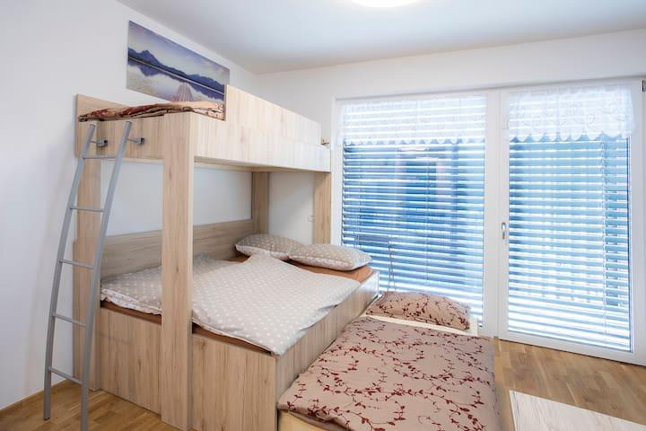 A comfortable bunk bed