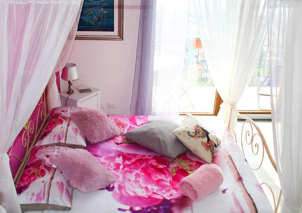 3 magnolia suite nuziale con balcone sul lago for Planimetrie della camera da letto della suite matrimoniale