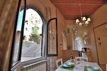 Amazing view on the main street of the medieval village and the famous Palazzo Pretorio Museum!