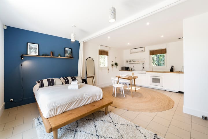 29sq m apartment renovated in 2020 by a decorator from Lyon.