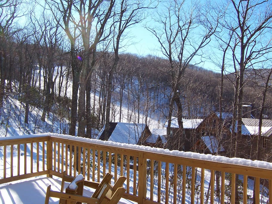 View from Deck to Tyro Ski Slope